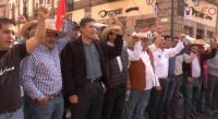 Marchan Sindicatos del sector educativo en Michoacán