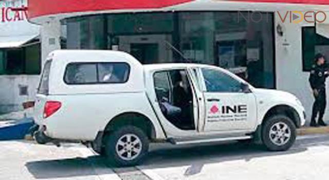 Logran en 4 horas recuperar camionetas robadas del INE en Michoacán